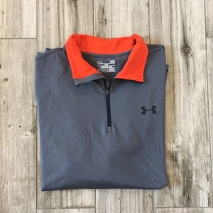 Under Armour Athletic Cold Gear Gray Pull Over (L)